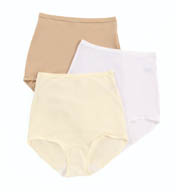 Shadowline Pants & Daywear Nylon Spandex Brief Panty - 3 Pack 17005pk