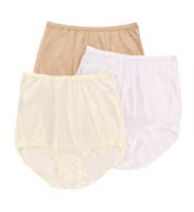 Shadowline Pants & Daywear Nylon Classic Brief Panty - 3 Pack 17042pk