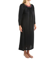"Shadowline Petals 53"" Long Sleeve Gown 33280"
