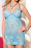 Shirley of Hollywood All Over Stretch Lace Chemise with G-String 25307