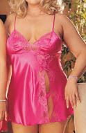 Shirley of Hollywood Charmeuse With Lace Full Figure Babydoll X20016