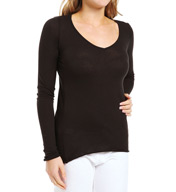 Skin Organic Cotton V-Neck Long Sleeve Tee EM10E