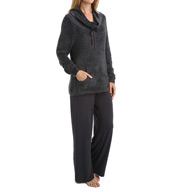 Softies by Paddi Murphy Boucle Cowl Neck Lounger Set 23630-8