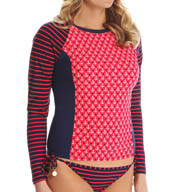Sperry Top-Sider Anchors Aweigh Long Sleeve Twin Print Rash Guard SW5HA55