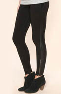 Splendid Novelty Leggings with Faux Leather Trim SB97968