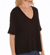 Splendid Slub Elbow Sleeve V-Neck Tee ST8950