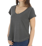 Splendid Vintage Whisper V-Neck Rolled Sleeve Tee ST9066
