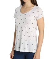 Splendid Zebra Short Sleeve Scoop Neck Tee ST9156