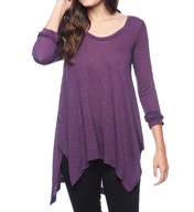 Splendid Slub LS High Low Scoop Neck ST9761