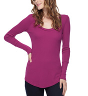 Splendid Thermal Long Sleeve Scoop Neck ST9804