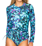 Sunsets Sea Glass Long Sleeve Rash Guard 960