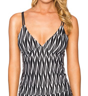 Sunsets Ocean Weave Double Strap Tankini Swim Top OCWE88T