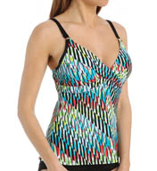 Swim Systems Chroma Crossover Underwire Tankini Swim Top H796CRM