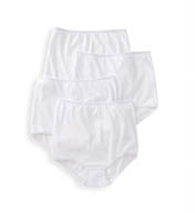 Teri Cotton Full Cut Brief Panties - 4 Pack 122