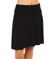 Three Dots Viscose Lycra Fold Over Skirt EM3K007