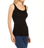 Three Dots Light Weight Viscose Long Fitted Tank LD0S085