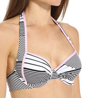 Tommy Bahama Slanted Stripes Underwire Full Coverage Swim Top TSW24100T