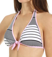 Tommy Bahama Slanted Stripes Reversible Halter Swim Top TSW24102T