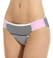 Tommy Bahama Slanted Stripes Side Shirred Hipster Swim Bottom TSW24109B