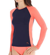 Tommy Bahama Deck Piping Long Sleeve Rash Guard TSW24641C