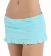 Tommy Bahama Pearl Solids Skirted Hipster Ruffled Swim Bottom TSW24723B