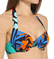 Tommy Bahama Tropical Leaf Underwire Full Coverage Swim Top TSW25300T