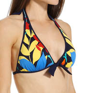Tommy Bahama Tropical Leaf Reversible Halter Swim Top TSW25301T
