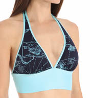 Tommy Bahama Vintage Map Reversible Halter Swim Top TSW25403T