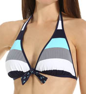 Tommy Bahama Bold Stripe & Mini Anchor Reversible Swim Top TSW25704T