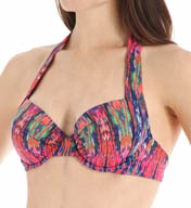 Tommy Bahama Ikat Tie Dye Underwire Full Coverage Swim Top TSW26500T