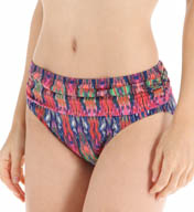 Tommy Bahama Ikat Tie Dye High Waist Sash Swim Bottom TSW26508B