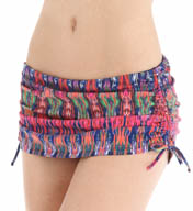 Tommy Bahama Ikat Tie Dye Shirred Skirted Hipster Swim Bottom TSW26509B