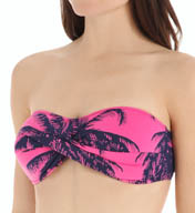 Tommy Bahama Ombre Palm Twist Bandeau Swim Top TSW26602T