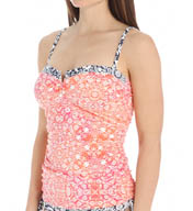 Tommy Bahama Coral Medallion V Neck Tankini Swim Top TSW26803T