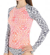 Tommy Bahama Coral Medallion Long Sleeve Rash Guard TSW26820C
