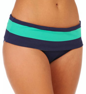 Tommy Bahama Mare Rugby Stripe High Waist Swim Bottom TSW35507B