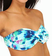 Tommy Bahama Watercolor Floral Twist Bandeau Swim Top TSW36103T