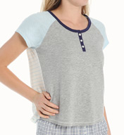 Tommy Hilfiger Cap Sleeve Henley Tee R22S122