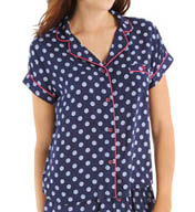 Tommy Hilfiger Short Sleeve Button Down PJ Top R28S003