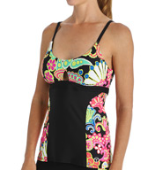 Trina Turk Nandini Over-the-Shoulder Tankini Swim Top TR5VM60