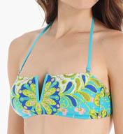 Trina Turk Woodblock Floral Bandeau Swim Top TT5B281