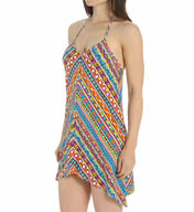 Trina Turk Peruvian Stripe Asymmetrical Dress Cover Up TT5FG35
