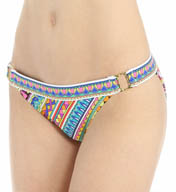 Trina Turk Peruvian Stripe Buckle Side Hipster Swim Bottom TT5FG93