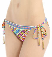 Trina Turk Peruvian Stripe Tie Side Hipster Swim Bottom TT5FG94