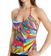 Trina Turk Viva La Vida Halter Tankini Swim Top TT5FK85