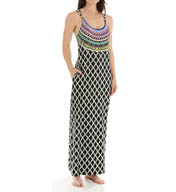 Trina Turk Kon Tiki Long Dress Cover Up TT5FN35
