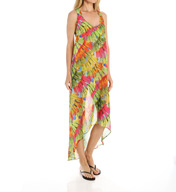 Trina Turk Polynesian Palms High Low Dress TT5W135