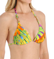 Trina Turk Polynesian Palms Tri Slider Swim Top TT5W180