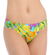 Trina Turk Polynesian Palms Shirred Side Hipster Swim Bottom TT5W190