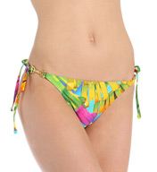 Trina Turk Polynesian Palms Tie Side Hipster Swim Bottom TT5W194